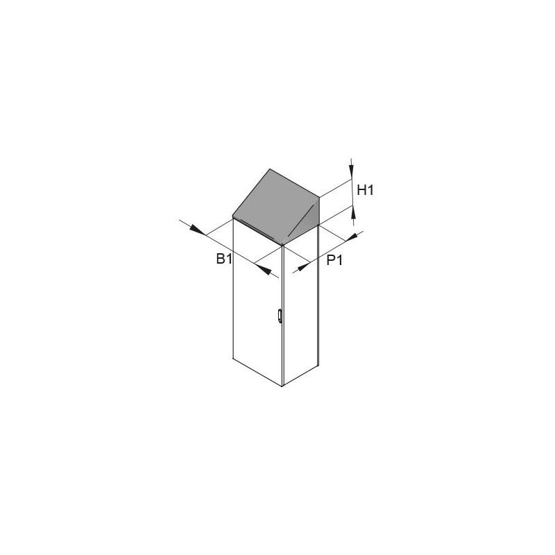 Daszek przeciwdeszczowy Hygienic Design do FCB 800x400mm