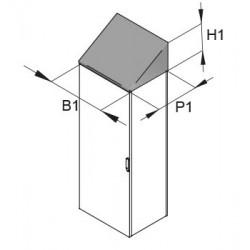 Daszek przeciwdeszczowy Hygienic Design do FC 800x400mm